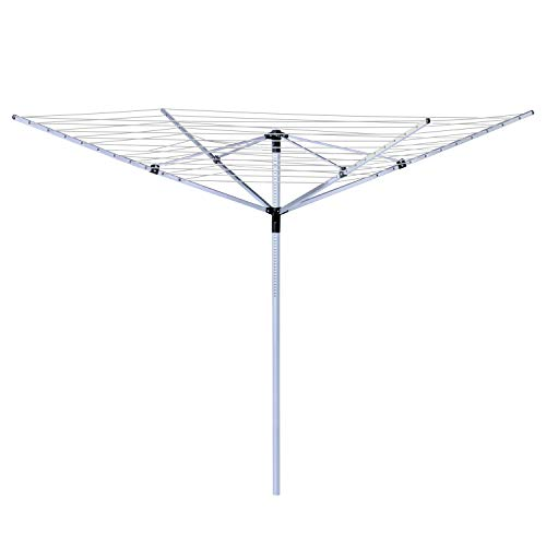"""Honey-Can-Do DRY-05262 In Ground Umbrella Dryer with 165' of Drying Line, 7 x 72"""",White"""