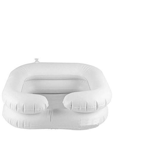 Venhoy Mobiles waschbecken Haarwaschbecken für bettlägrige Aufblasbares Bett Haarwäsche Friseurwaschbecken mobil