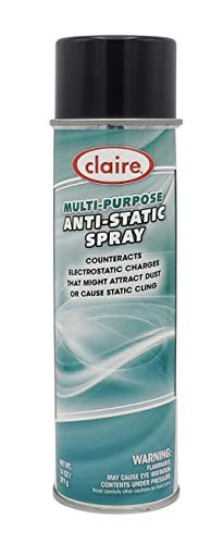 Claire Manufacturing CL955-1PK Multi Purpose Anti-Static Spray, 14 oz. can, 1 count
