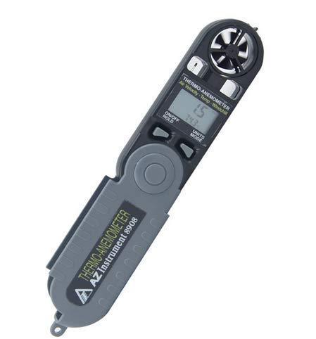 XUXUWA Windmesser, AZ8908 Pocket Windgeschwindigkeitsmesser Digital Anemometer für Outdoor Segeln Surfen Angeln Schießen