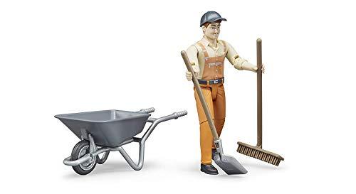 BRUDER - 62130 - Set figurine employé municipal