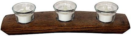 3 Votive Candleholder Dark Walnut product image