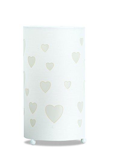 Aratextil Love Lampe de Table, Coton, Blanc, 24,5 x 13 cm