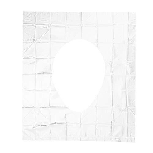 Freebily Reise Wasserdichte Toilettensitz Sitzschutz Einweg Toilettensitzabdeckungen WC Sitzauflagen Antibakteriell Unabhängige Verpackung für Hotel Durchsichtig 50 Stück