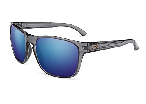 Under Armour Ua Glimpse Polarized Rectangular Sunglasses, Carbon, 55 mm
