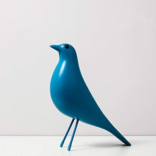 Ornamento de Escritorio Bird figuras decorativas Simulación linda Adornos Pájaro, Animal Figurines la decoración del hogar Muebles de visualización en escritorio artesanías decoración ( Color : E )