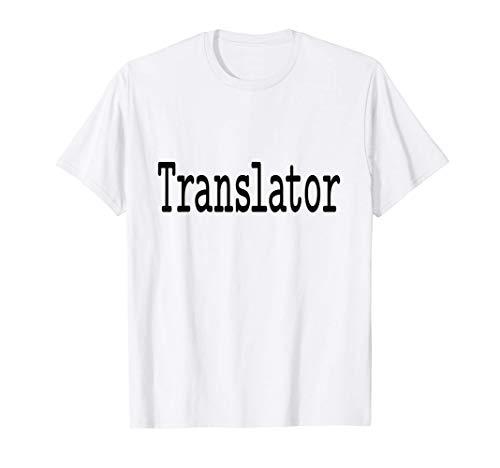 Translator Translation   Classic Typewriter Font T-Shirt