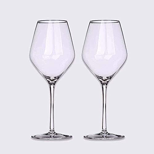 N&G Daily Equipment Crystal Red White Wine Glasses Cocktail Glass Wine Goblets Clear Crystal Stemware Juice Wine Drinking Glasses Cups Home Wedding Party 500 ml (Set of 8)