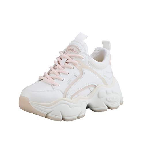 Buffalo Damen Low-Top Sneaker Binary C, Damen Halbschuhe,schnürschuhe,schnürer,straßenschuhe,Freizeitschuhe,Lady,Weiß (Offwhite),39 EU / 6 UK