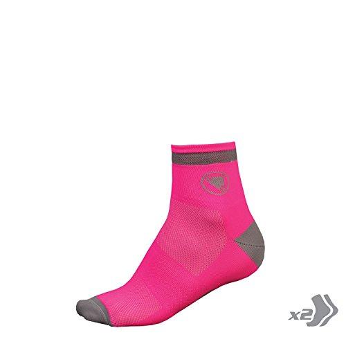 Endura Packung mit 2 Paar Socken Frau Luminite pink