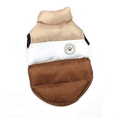 N / A Pet Winter Clothes,Dog Winter Warm Coat Jackets Dog Clothing Costume for Small Dogs Medium Dogs (L, Brown)