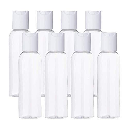 FIRMLEILEI 10pcs / Paket 100ml große Kapazität Kosmetik-Unterflasche, transparenter leerer Shampoo-Lotion-Behälter mit weißen Kappen Behälterflasche (Color : 05, Specifications : 100ML)