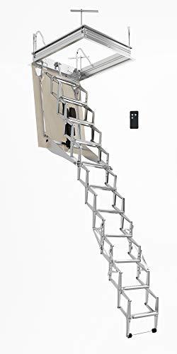 Escalera Plegable Motorizada Rotatoria Para el Altillo AutoAttic® Escalón Lado 70