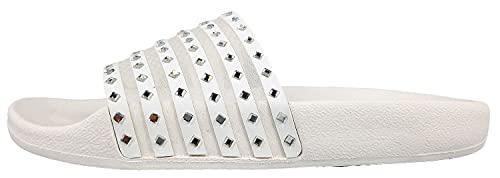 Skechers Damen Pantoletten/Badeschuhe POP UPS Sheer ME Out Weiß, Schuhgröße:EUR 41