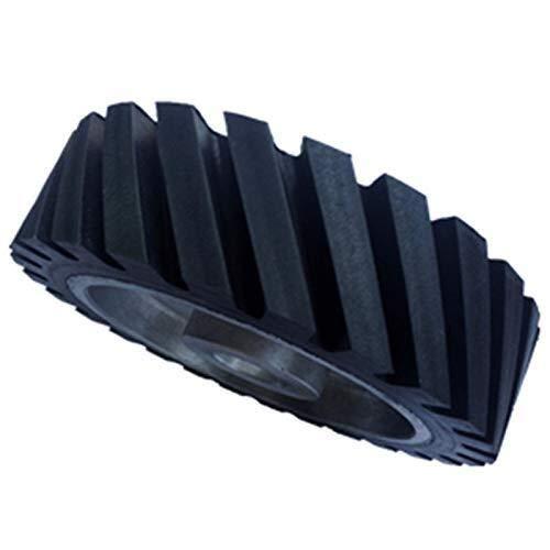 ZLININ 200 x 50 mm Wellenschliff-Bandschleifer für Kontaktrad, Gummiräder für Schleifbänder