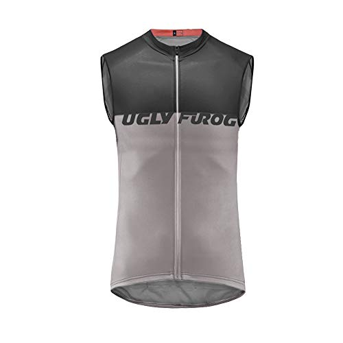 Uglyfrog Ropa Ciclismo Chaleco Sin Mangas Maillots Ciclistas Hombre Mountain Bike/MTB Shirt, Transpirable y Que Absorbe El Sudor ESH19VS09