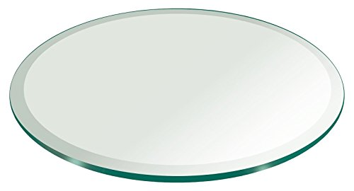 """36"""" Inch Round Glass Table Top 3/8"""" Thick Tempered Beveled Edge by Fab Glass and Mirror"""