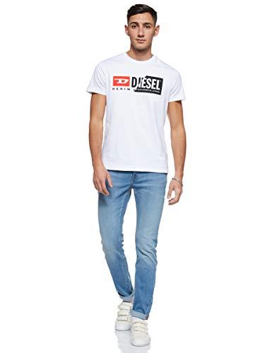 (ディーゼル)DIESELメンズTシャツWロゴ半袖クルーネックプリント00SDP10091ASホワイト100