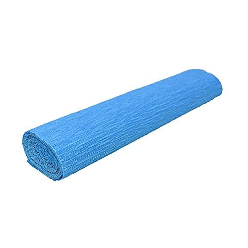 Juan-375 Rollo de papel crepé de 250 x 25 cm para manualidades con papel de crepé arrugado para manualidades, manualidades, cumpleaños, boda, color azul cielo
