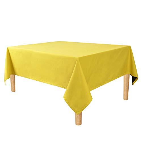 Geel tafelkleed tafelkleden waterdicht en makkelijk schoon huishoudelijke goederen die worden gebruikt voor outdoor picknicks, feesten, familiediners(55x78inch)