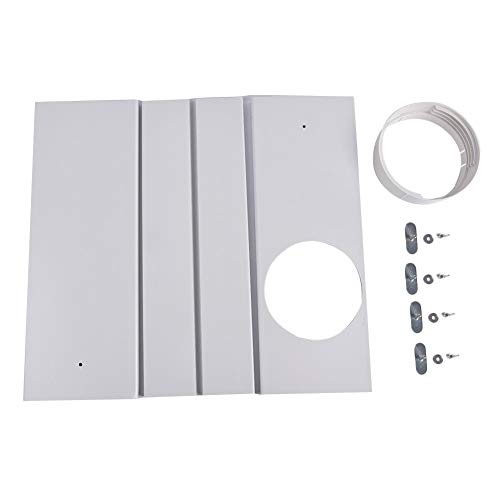 puremood Window Seal Plates Kit for Portable Air Conditioners, Window Adaptor Plastic AC Vent Kit for Sliding Glass Doors and Windows - Adjustable Length Panels for Exhaust Hose