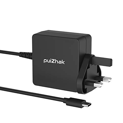 PuiZhak Universal PD Quick Charge 65W 45W USB-C Charger With 1.8M Cable Compatible FOR Acer Swift 7, Spin 7, Switch Alpha 12, Aspire R13, Lenovo ThinkPad X1 Carbon, Yoga 920 720 & All USB-C Devices