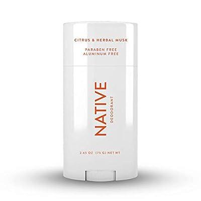 Native Deodorant - Natural Deodorant - Vegan, Gluten Free, Cruelty Free - Free of Aluminum, Parabens & Sulfates - Born in the USA - Citrus & Herbal Musk