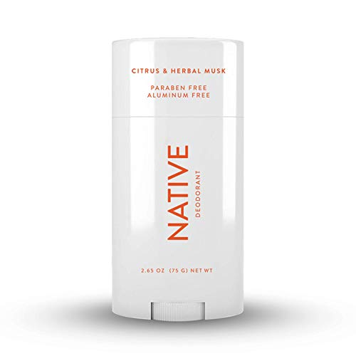 Native Deodorant - Natural Deodorant for Women and Men - Vegan, Gluten Free, Cruelty Free - Aluminum Free, Free of Parabens and Sulfates - Citrus & Herbal Musk