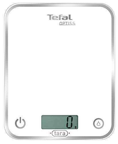 Tefal BC5000 Optiss White - Báscula de Cocina, hasta 5 kg,