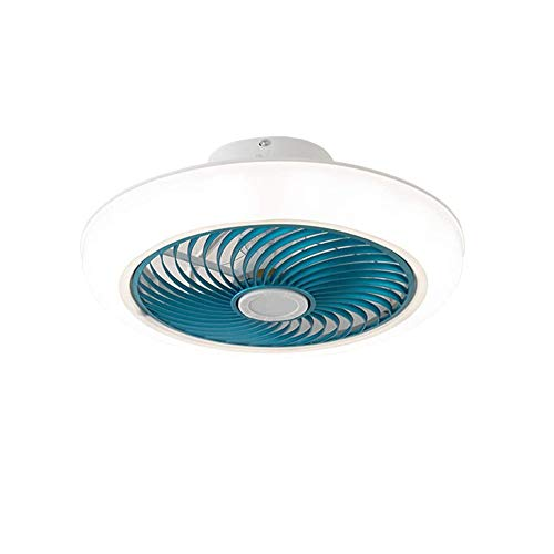 Crayom Ventilador invisible con iluminación, Lámpara de techo moderna con ventiladores, Ventilador de techo con control remoto, para sala de estar, Habitación infantil, Ajustable en 3 colores, Sincron