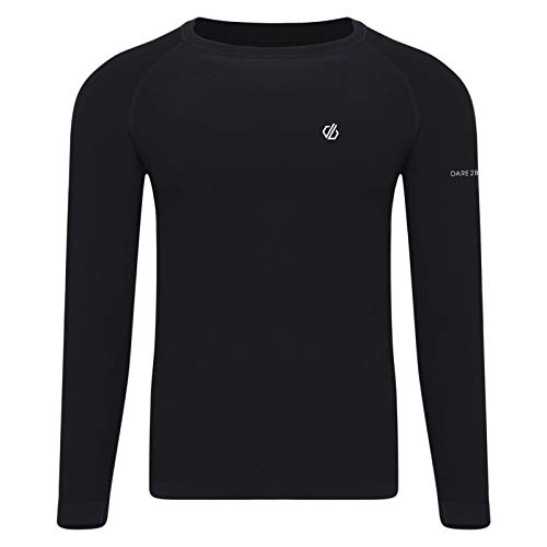 Dare 2b Maillot Manches Longues Première Couche Technique in The Zone Base Layer Homme, Black, FR : S (Taille Fabricant : S)