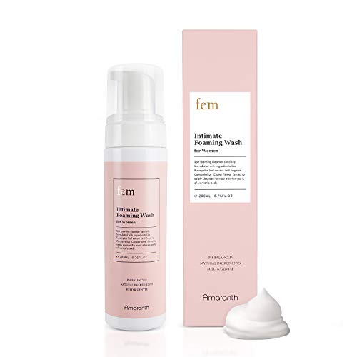 fem pH Balance Intimate Wash for Women, Feminine Wash for Sensitive Skin, Gentle Cleanser for Daily Use, Helps Eliminate Irritation, Itching, Odor (200ml / 6.8 fl oz)