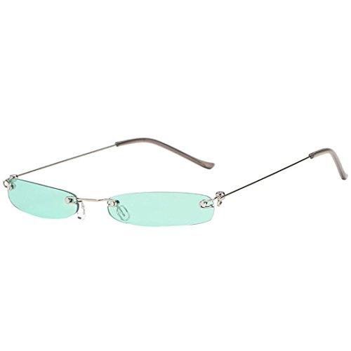 Dragon868 Herren/Damen Sonnenbrille Metallic Vintage Transparent Small Frame Sonnenbrille Retro Brillen (A)