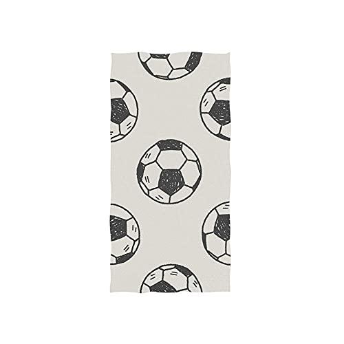 Hand Drawn Football Toallas Baño Lujoso Toalla De Playa Poliéster Toallas De Baño Impreso Toalla De Piscina