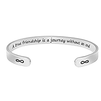 BTYSUN Inspirational Teen Girl Gift Idea,Motivational Cuff Bracelets for Women Best Friend Bracelets Mantra Quotes Sister Gifts Coworker Uplifting Friendship Bangle