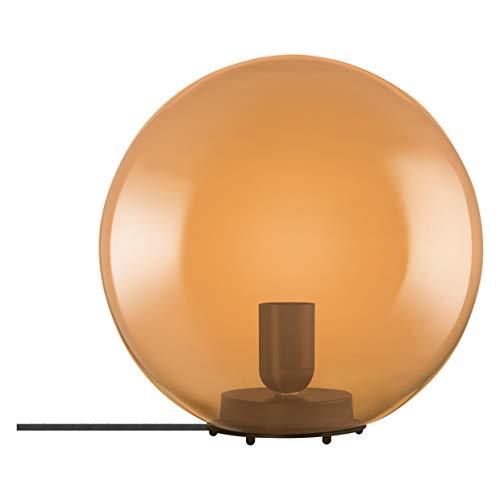 LEDVANCE Vintage Edition 1906 - Lámpara de mesa con casquillo E27, cristal naranja, sin bombilla, mesa de burbujas