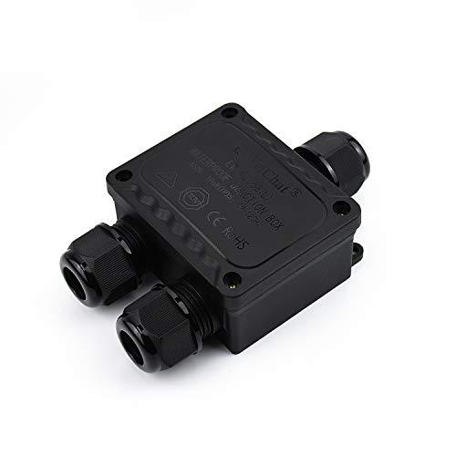 KLJAnschlussdose Wasserdichter IP68 3-Wege-Stecker M2068-3Y Koaxialkabelanschluss Kabelbereich5 bis 14 mm Elektrisches externes Stromkabel Anschlussdosen