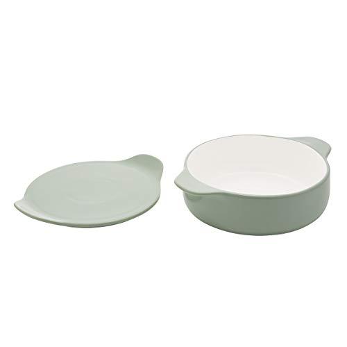 KitchenAid Runde Backform aus verglastem Steingut, 2,25 Quartz, Pistazie