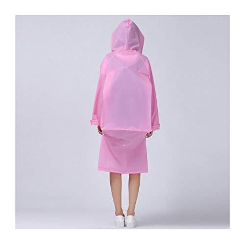 zhaoyangeng Fashion Fiets Vrouwen Mannen Pink Transparant lange regenjas Poncho draagbare lichte regenjas, geen wegwerp regenjas voor volwassenen Maat: XL