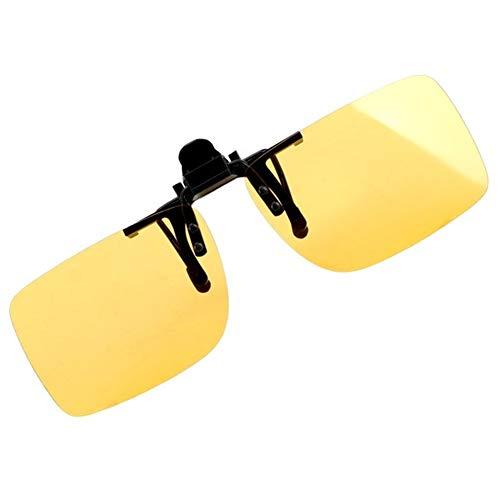 Clip conductor del coche de gafas anti-UVA UVB polarizada Gafas de sol de conducción de la visión nocturna de la lente de gafas de sol Accesorios Interior Gafas de sol polarizadas ( Color : Yellow )