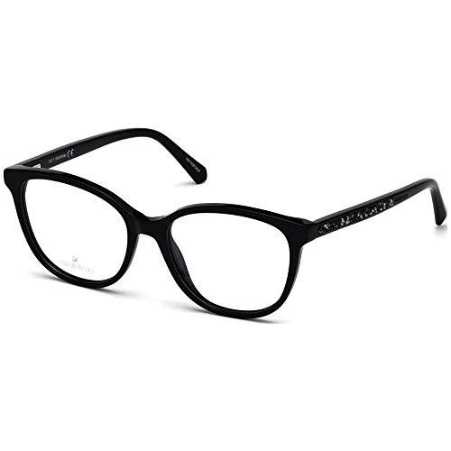 Swarovski Brille (SK-5264-V 001) Acetate Kunststoff schwarz glänzend - schwarz glitzer