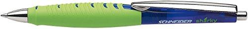 Schneider Sharky Ballpoint Pen, Green & Translucent Blue