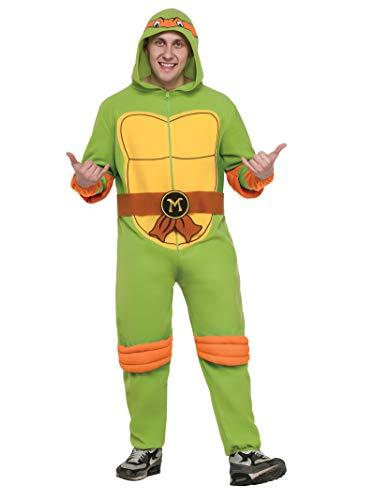 Rubie's Men's Teenage Mutant Ninja Turtles Classic Raphael Hooded Jumpsuit, As Shown, Standard