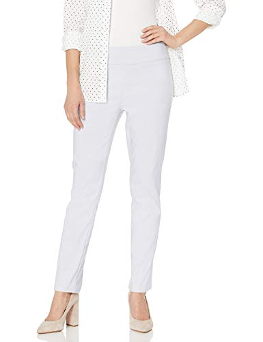 Tribal Womens Misses Flatten It Pull-On Slim Leg Ankle Pant, White, 10