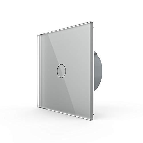 Design Lichtschalter Berührungsschalter Ein/Aus Schalter aus Glas LIVOLO Grau