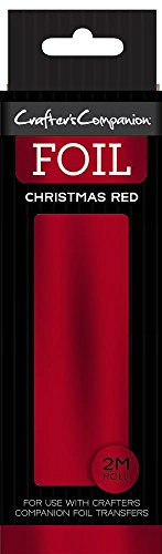 Crafter' s Companion Foil Roll–Natale Rosso