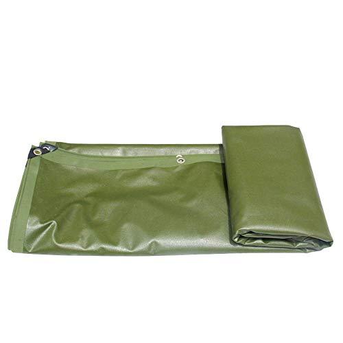 Lámina de suelo de revestimiento de PVC espesante de lona resistente Producto para exteriores Resistente al frío 0,75 mm 620 g / m Verde - 100% impermeable y protegido contra rayos UV (Tamaño: 2x2M)
