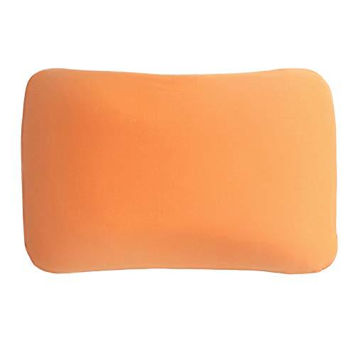 Edda Lux Bezug für Tempur Symphony S/M Schlafkissen | Hochwertiger Jersey-Kissenbezug mit Reißverschluss | 63x43 cm | 100{596ed0c5c516e9c0cf3895aaefab252f929d331c8a87688208e010c452f253f1} Baumwolle | Farbe Orange