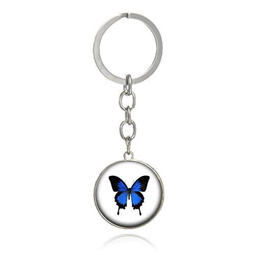 Carry stone 1x Schmetterling Handtasche anhänger schlüsselbund zubehör Auto schlüsselanhänger Dekoration schlüssel Schnalle hängen Ornament Navy hohe qualität