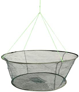"""LikeFish Foldable Fishing Net Hand Casting Cage Crab Net for Minnows, Crab, Lobsters, Fishes (Small-Dia 31.5""""/23.6"""")"""